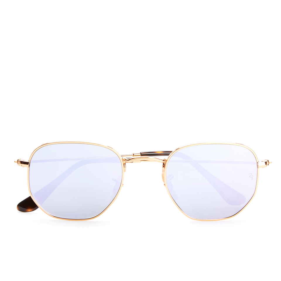 ray-ban-hexagonal-metal-frame-sunglasses-gold-wisteria-flash
