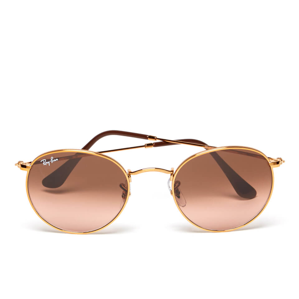 ray-ban-round-flat-lenses-bronze-copper-frame-sunglasses-pink-brown-gradient