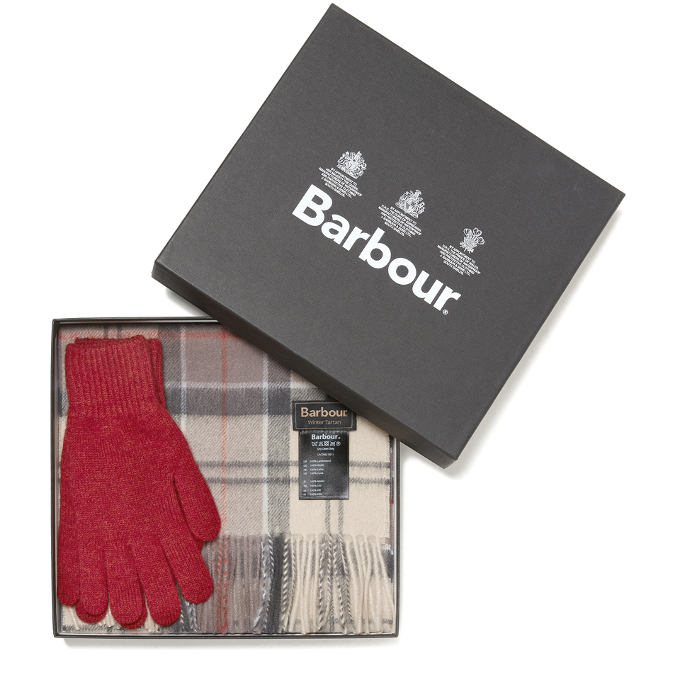 Barbour Womens Scarf And Gloves Set A Neutral