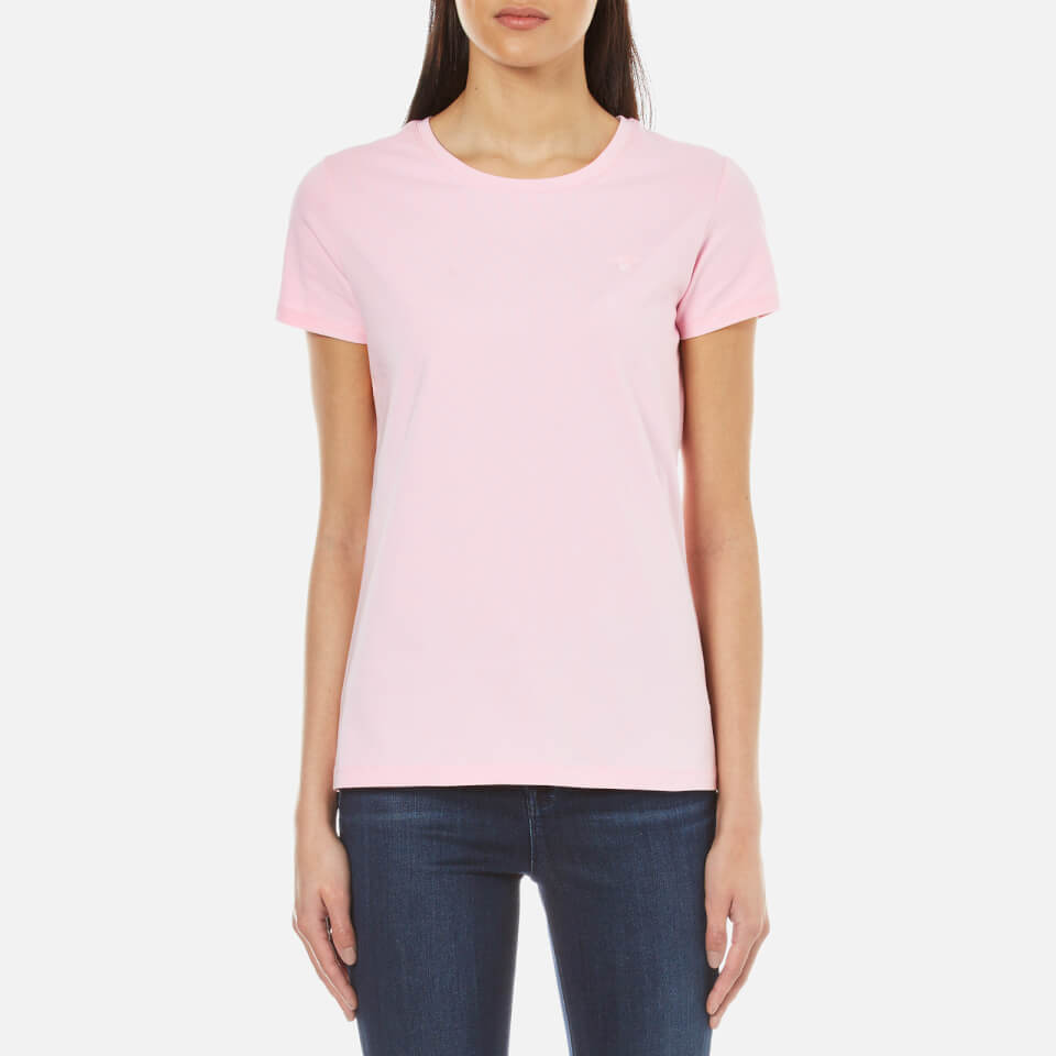 GANT Women's Cotton/Elastane Crew Neck T-Shirt - California Pink - S
