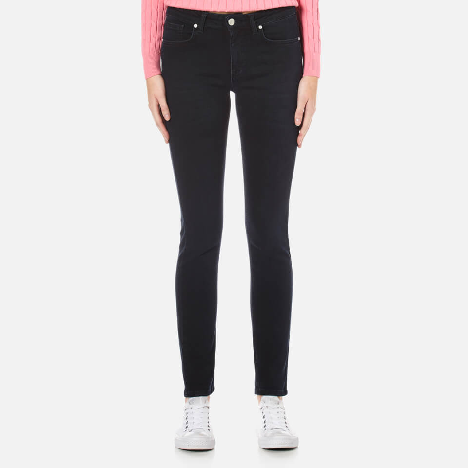 GANT Women's O1 Slim Blue Black Jeans - Dark Blue Worn In - W27/L30