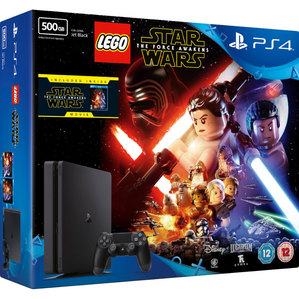 sony-playstation-4-slim-500gb-console-includes-lego-star-wars-the-force-awakens-star-wars-the-force-awakens-blu-ray