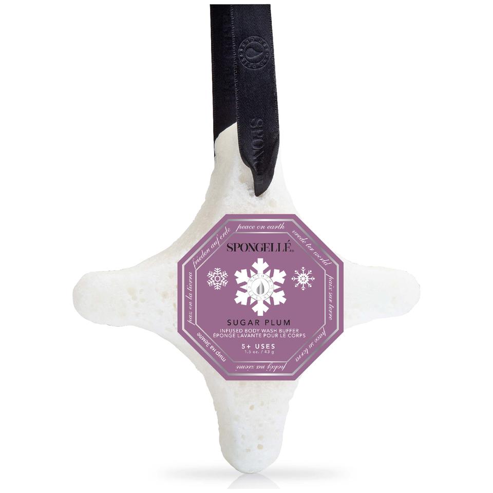 spongelle-holiday-ornament-body-wash-infused-buffer-sugar-plum