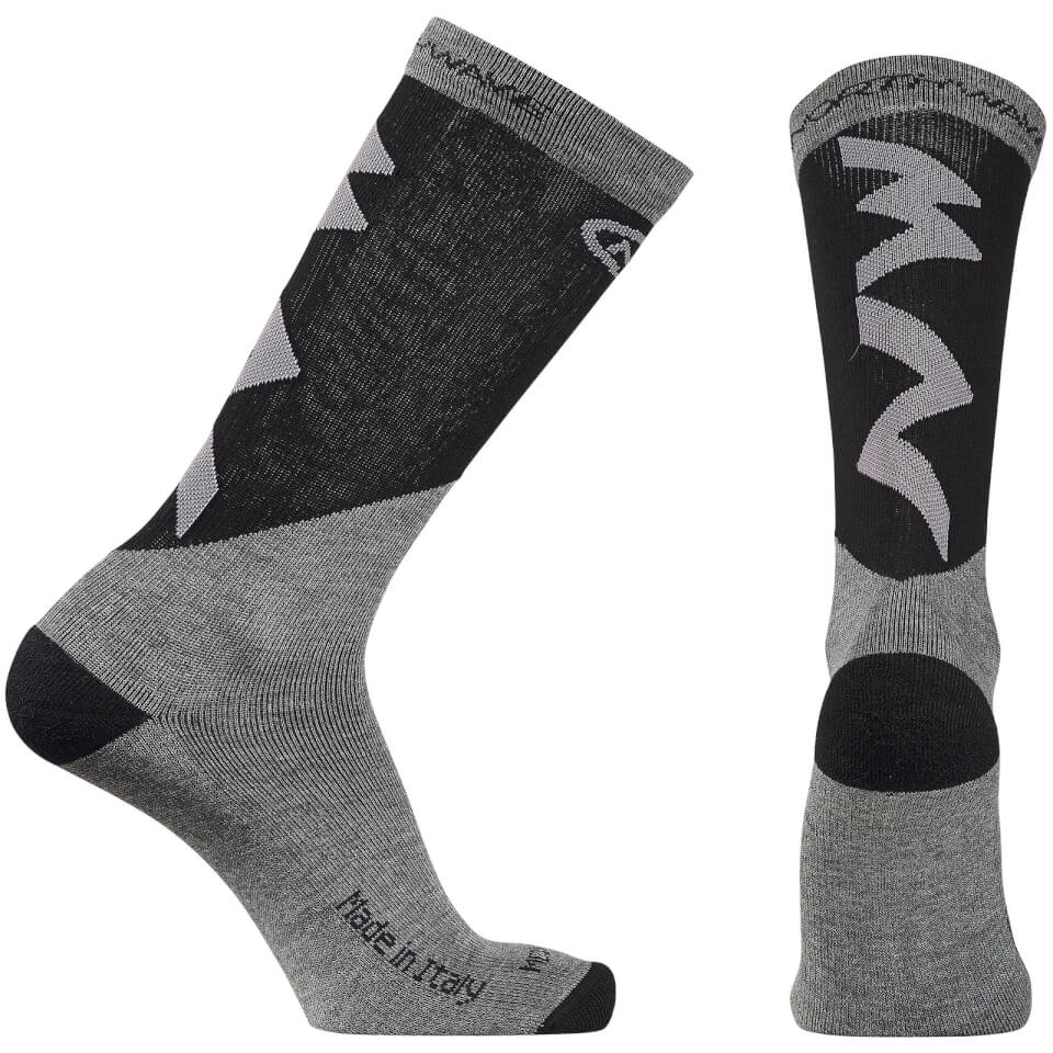 northwave-extreme-pro-high-socks-grey-black-s-grey-black