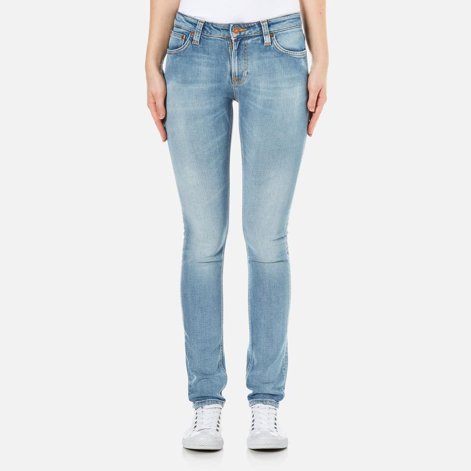 Nudie Jeans Womens Skinny Lin Jeans Clean Stone Indigo W28/l32
