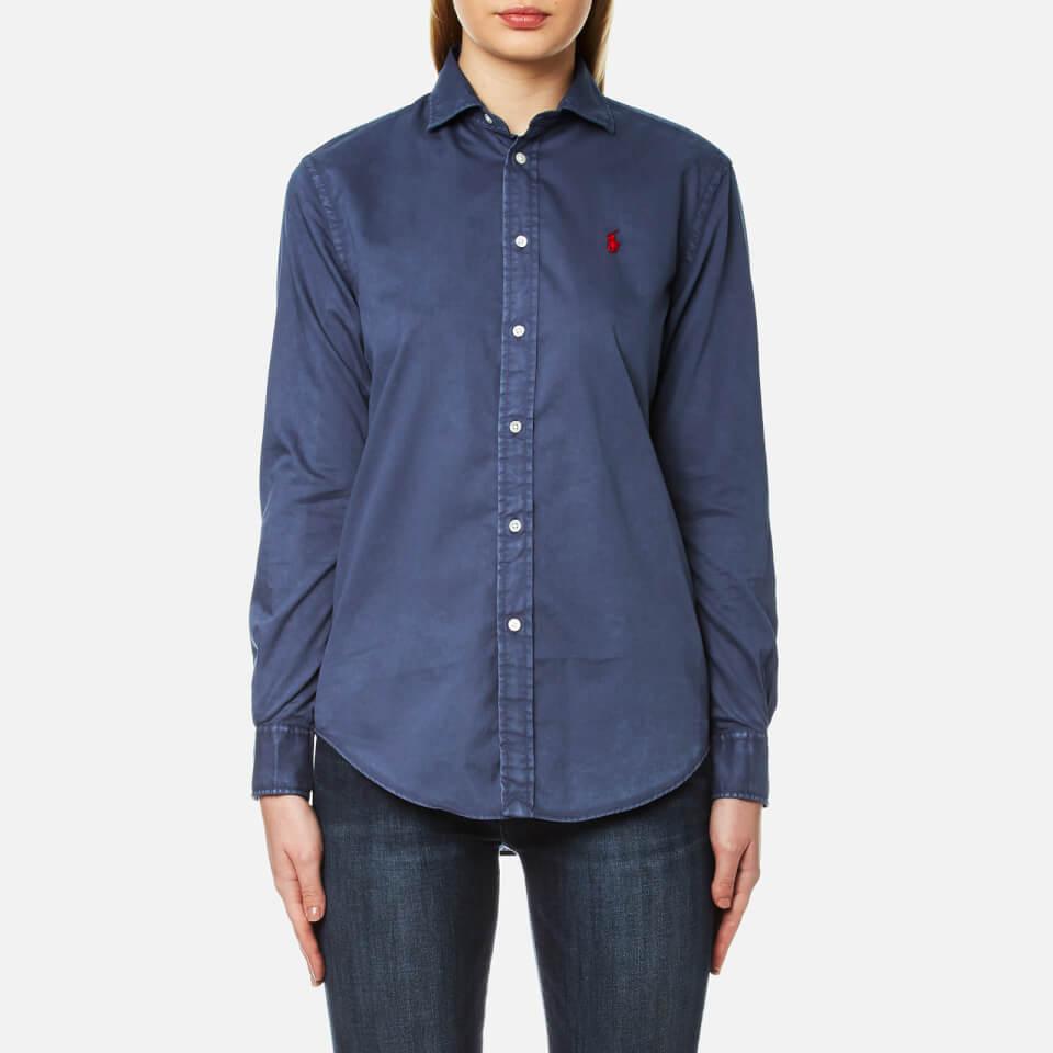 Polo Ralph Lauren Womens Rx Est Long Sleeve Shirt Newport Navy Uk 12/us 8