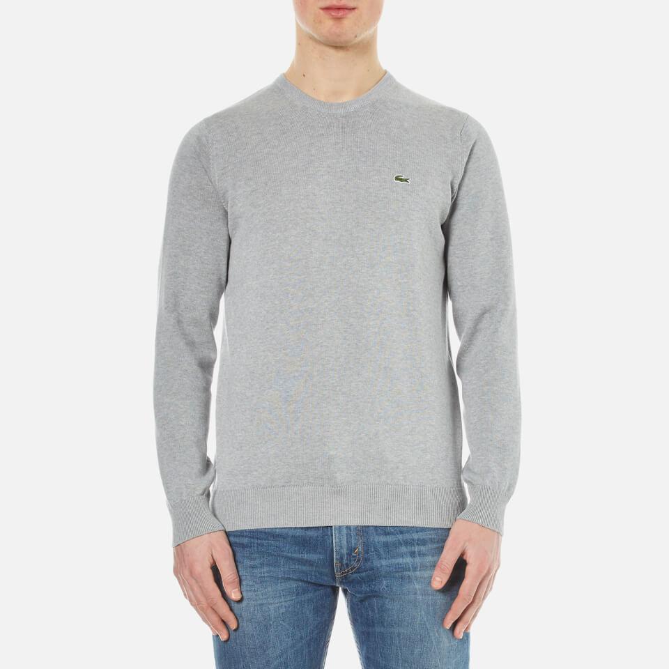 Lacoste Mens Crew Neck Sweatshirt Silver Chine 5/l