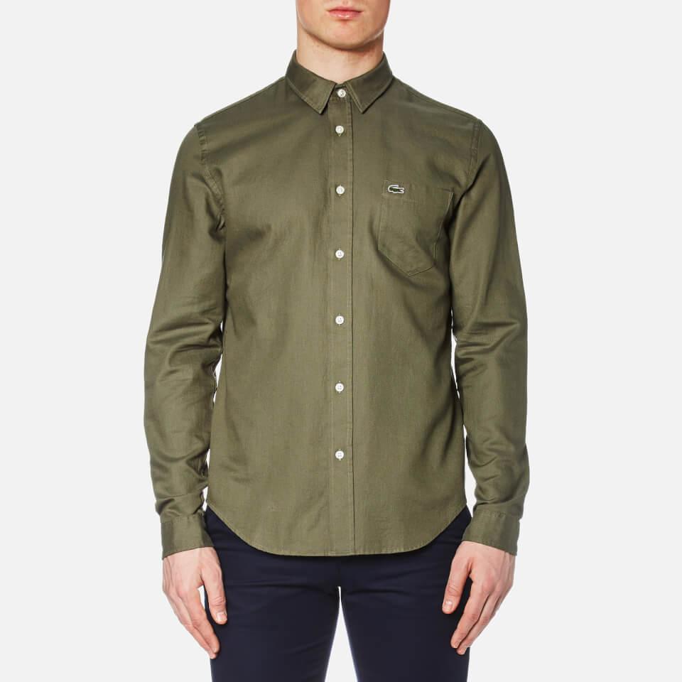 lacoste-men-long-sleeve-shirt-army-safari-m