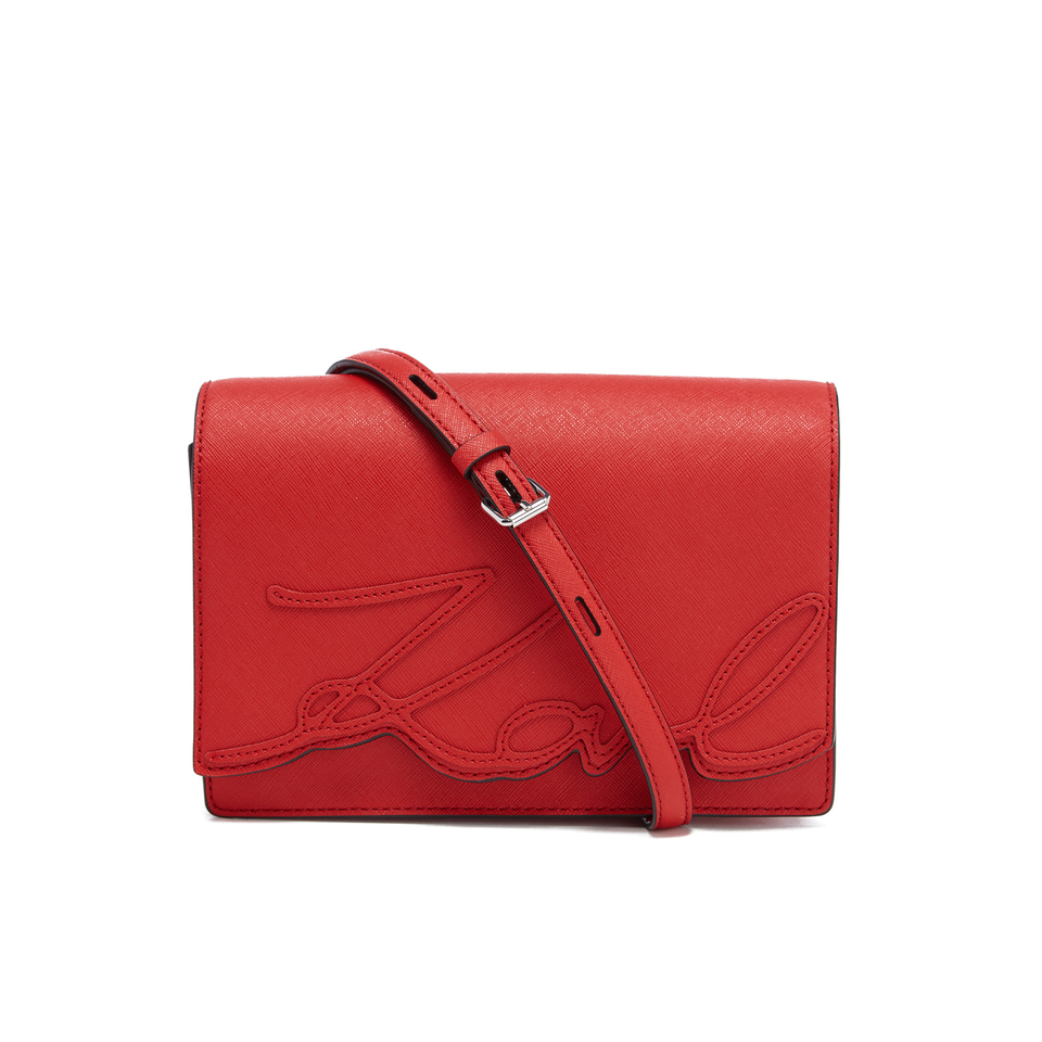 9acdaf23f6aa Karl Lagerfeld Women's K/Signature Shoulder Bag - Scarlet