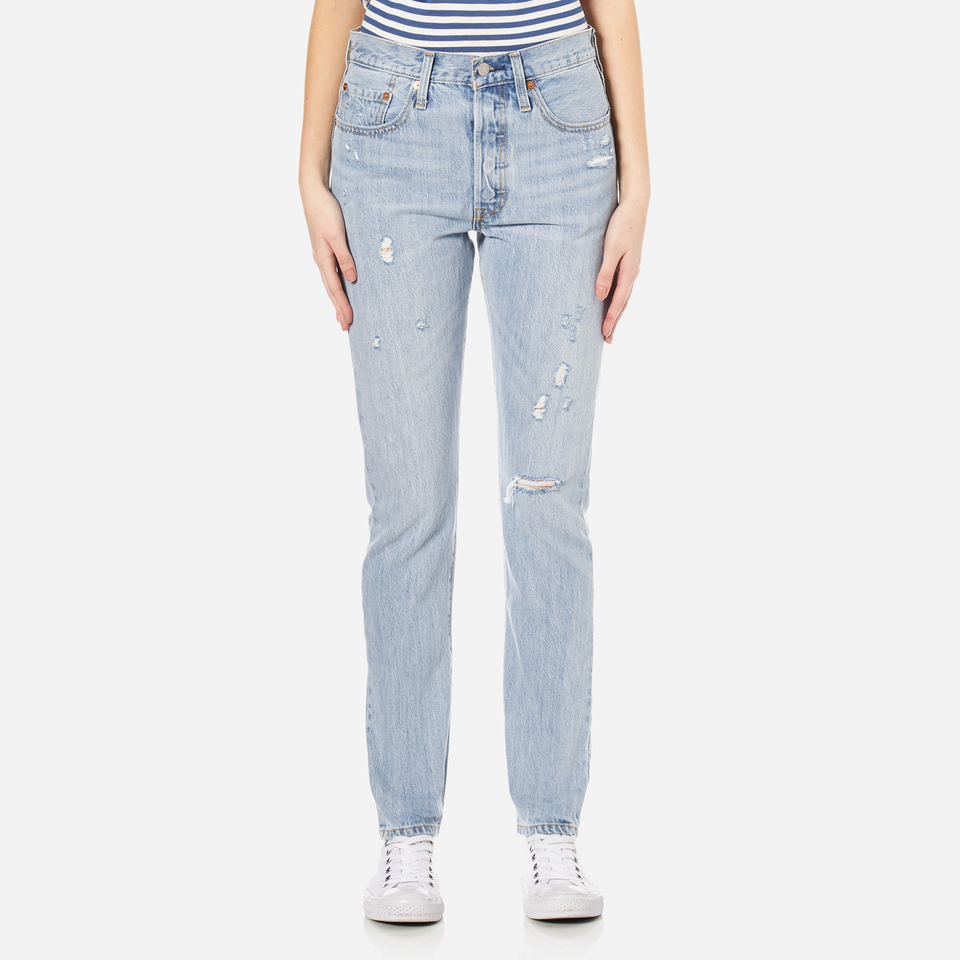 Levis Womens 501 Skinny Jeans Clear Minds W29/l32