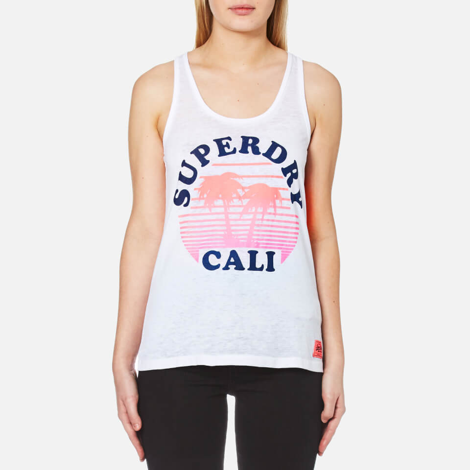Superdry Womens Sunset Cali Burnout Vest Optic M
