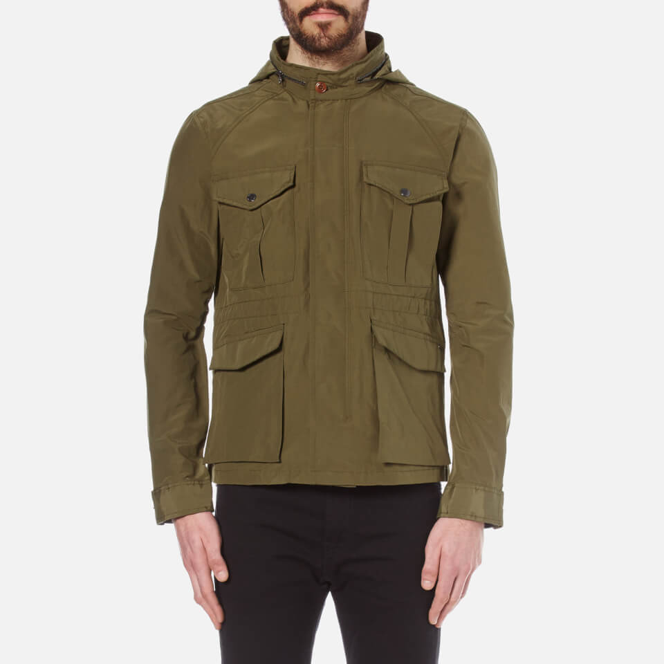 Scotch & Soda Mens Six Pocket Military Jacket Military Green L