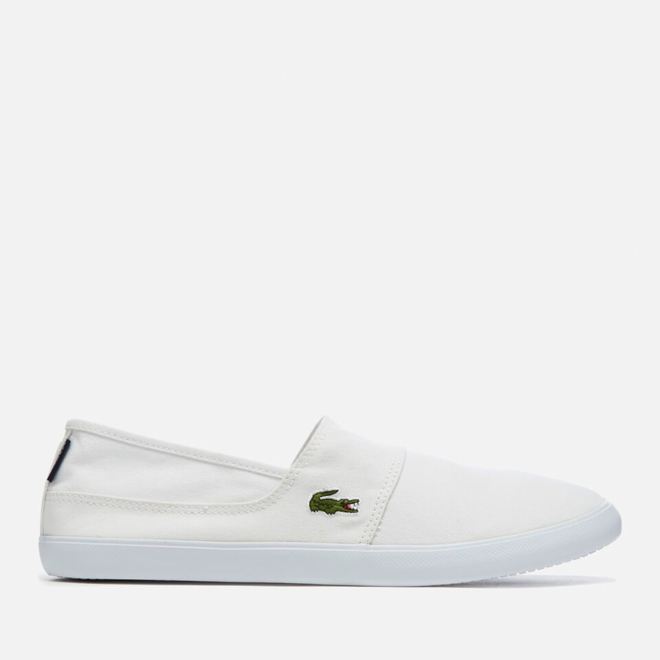 be9cb1eecce038 Lacoste Men's Marice Bl 2 Canvas Slip-On Pumps - White - Free UK Delivery  over £50