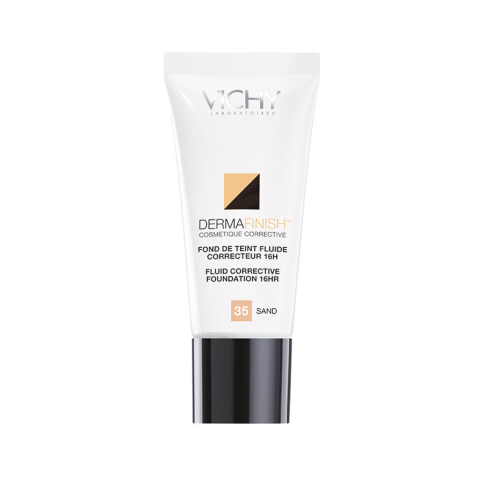 Vichy Dermafinish Corrective Fluid High Coverage Liquid Foundation with SPF 30, 16 Hour Color Wear - Sand 35, 1 Fl. Oz. 11429062