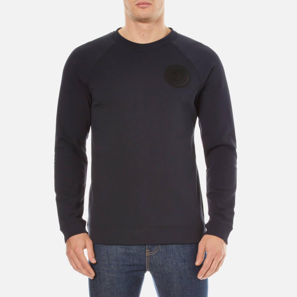 Versace Collection Mens Round Logo Sweatshirt Navy Xl