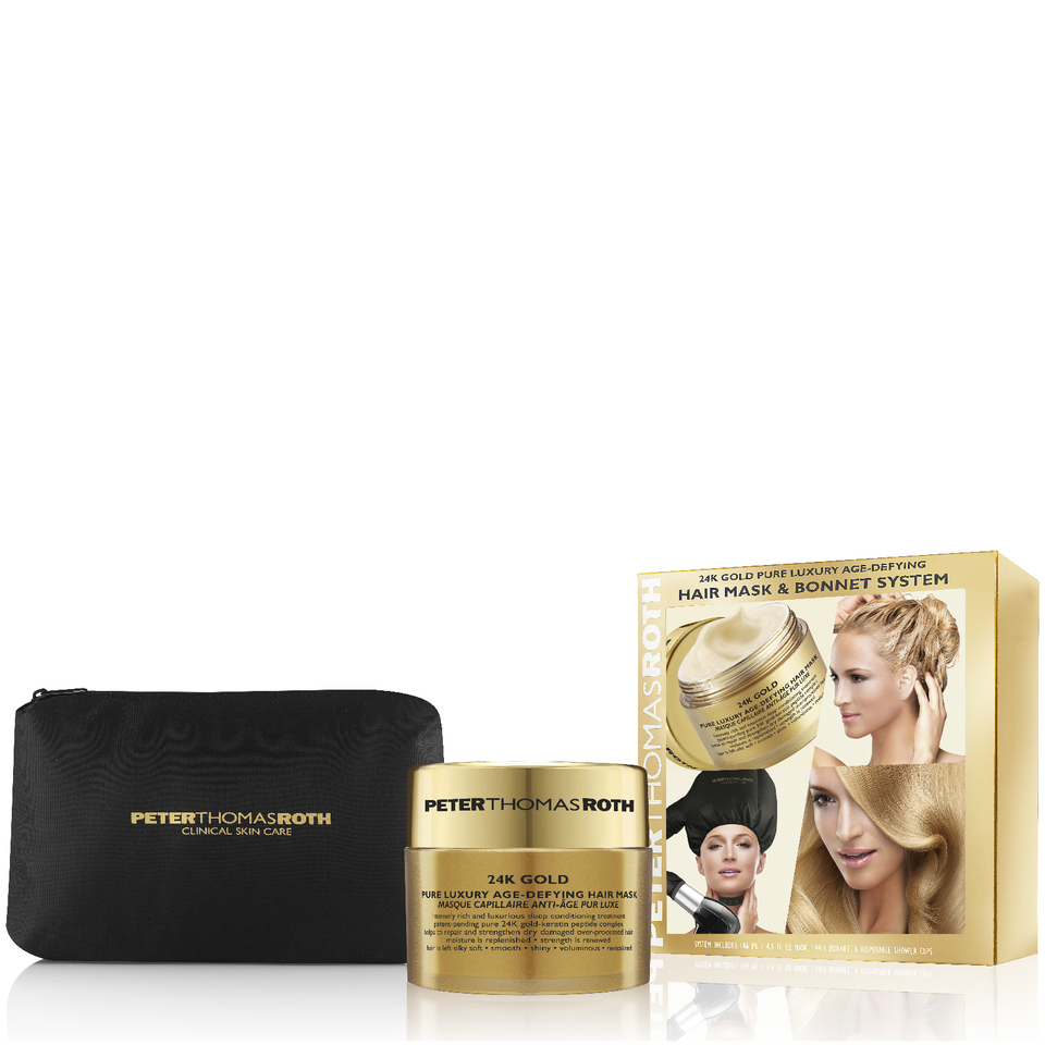 Peter Thomas Roth 24K Gold Hair Mask with Bonnet System 11381902