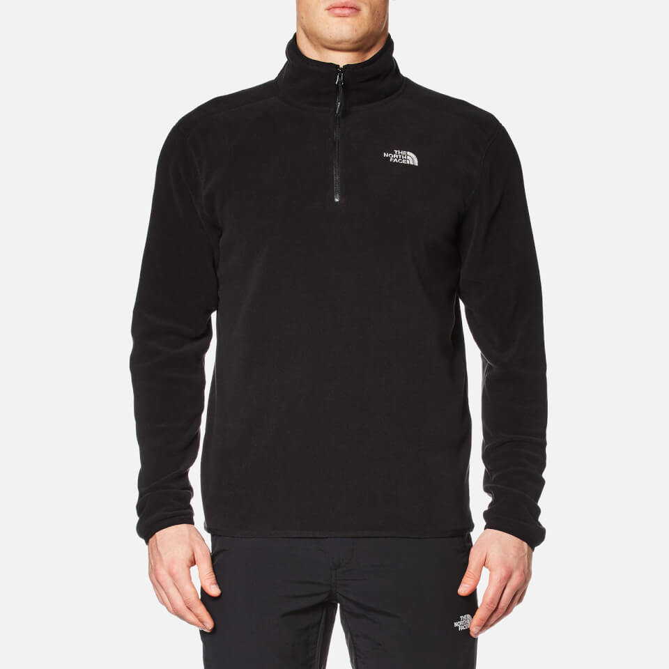 The North Face Mens 100 Glacier Delta 1/4 Zip Jacket Tnf Black Xl