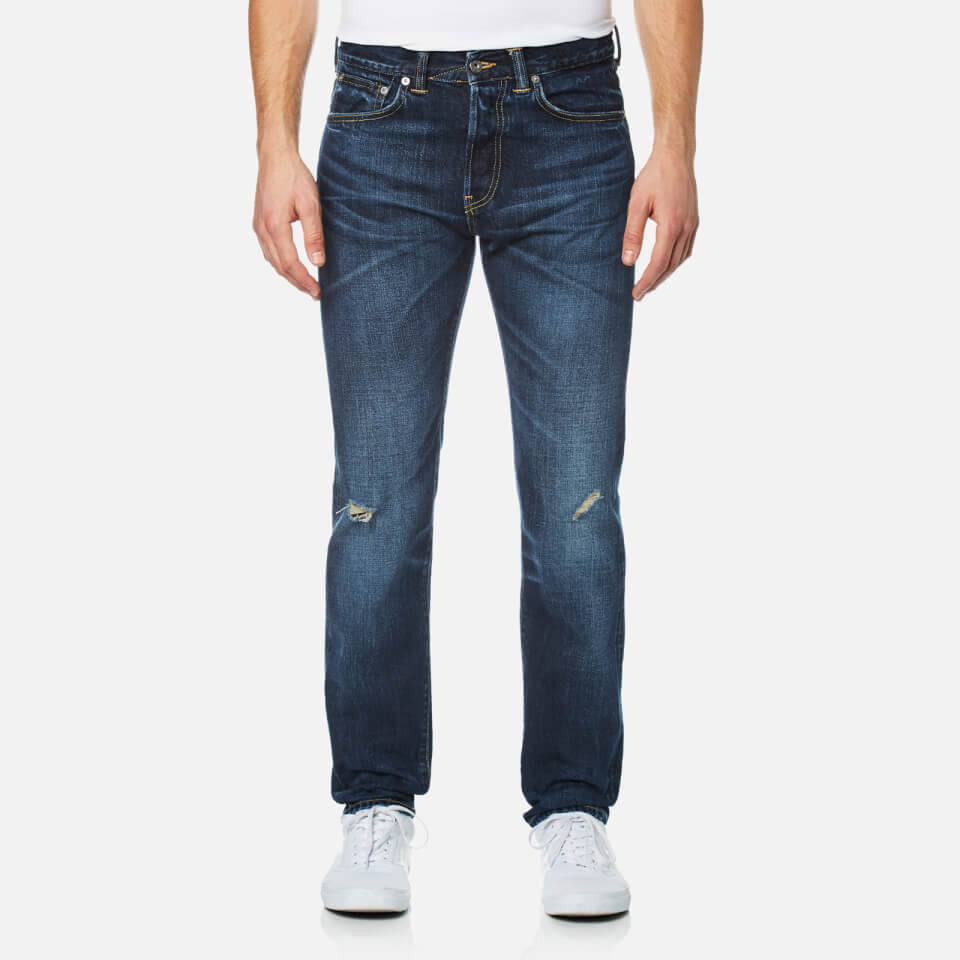 Edwin Mens Ed-80 Slim Tapered Rainbow Selvedge Denim Jeans Contrast Dark Wash W30/l32