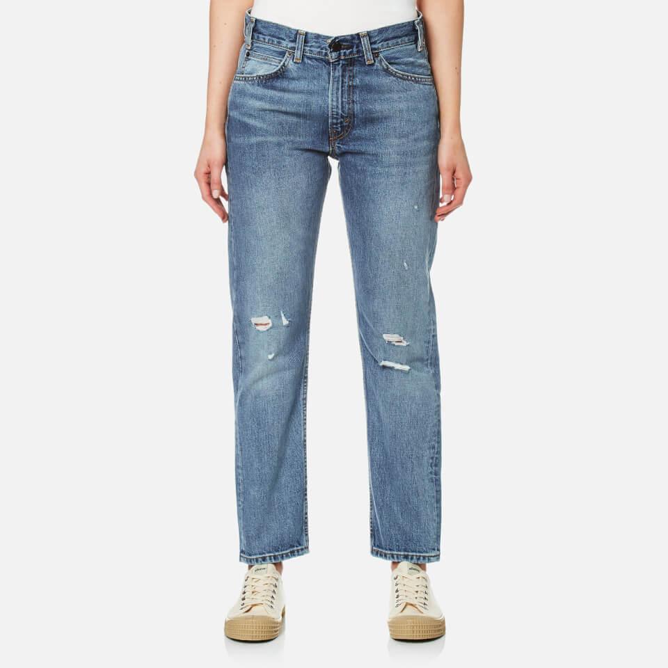 Levis Womens Orange Tab 505 C Cropped Jeans Heat Stroke W29/l32