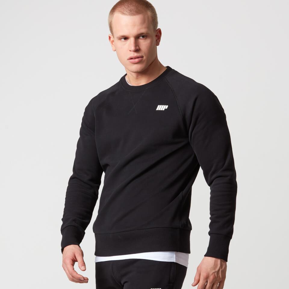 Suéter Clásico de Cuello Redondo - XL - Negro