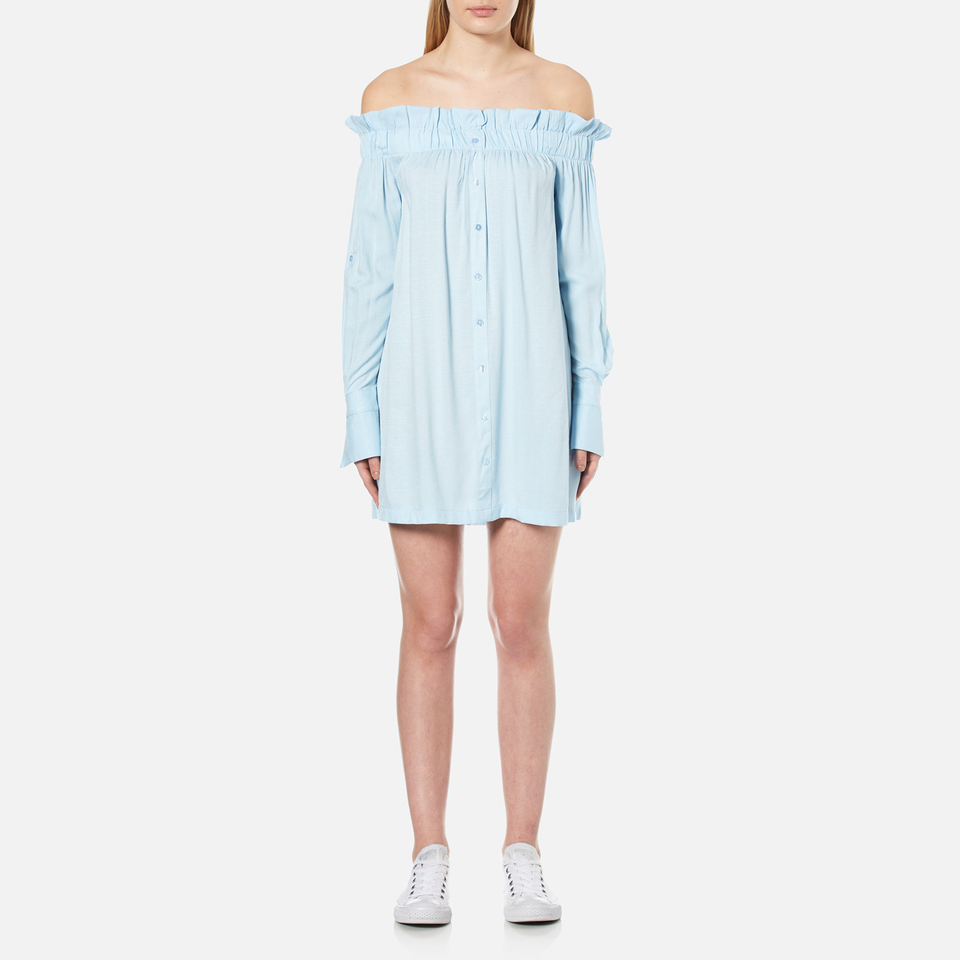 minkpink-women-business-class-off-shoulder-dress-light-blue-xs