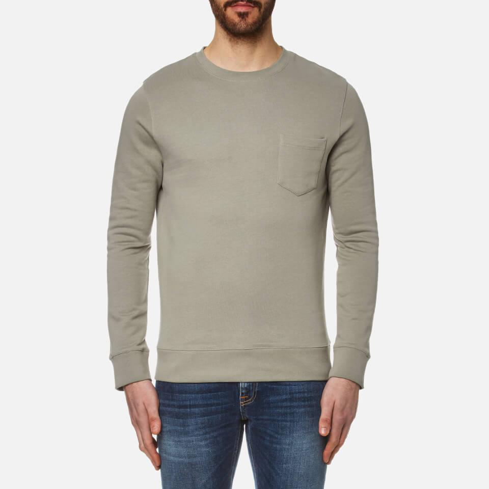 A.p.c. Mens Worker Sweatshirt Kaki Clair S