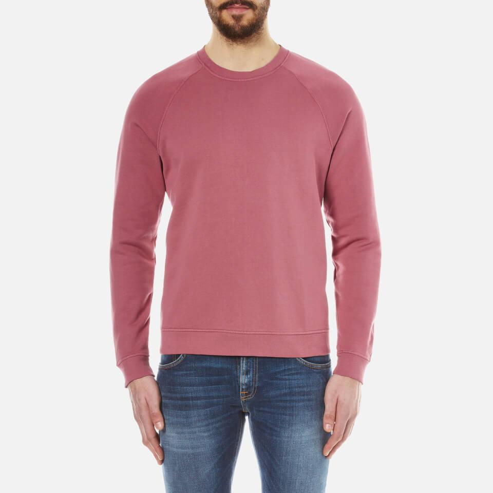 Folk Mens Crew Neck Sweatshirt Soft Burgundy M