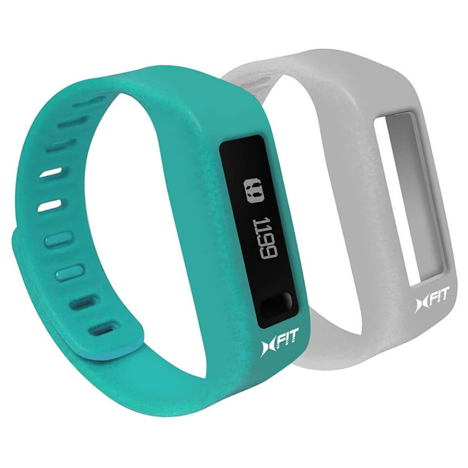 xtreme-cables-xfit-bluetooth-water-resistant-fitness-tracker-watch-two-straps-turquoise-grey