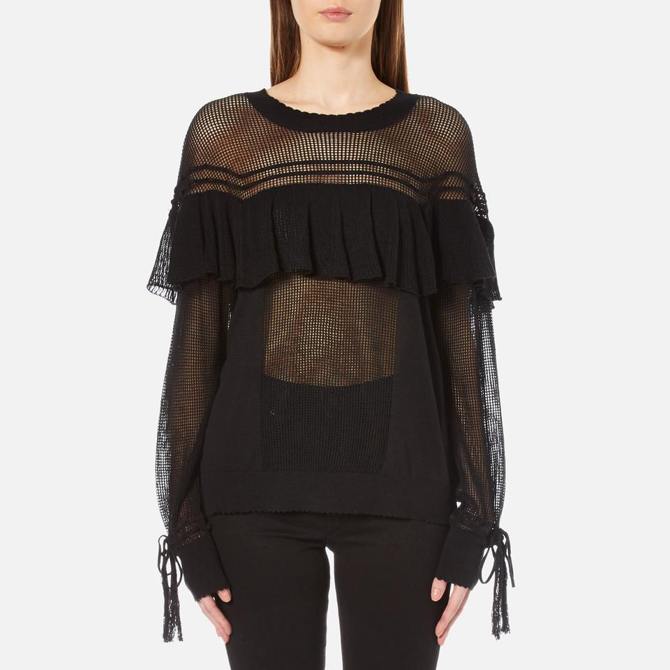 Wildfox Womens Mirage Sweatshirt Clean Black M