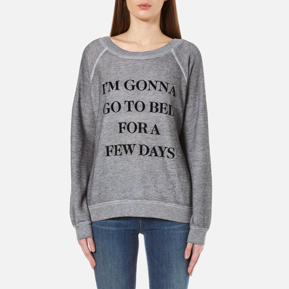 Wildfox Womens Daytime Napper Sommers Sweatshirt Burnout Heather S