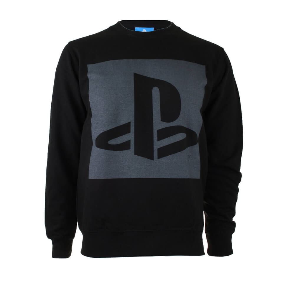 play-station-men-block-logo-sweatshirt-black-s