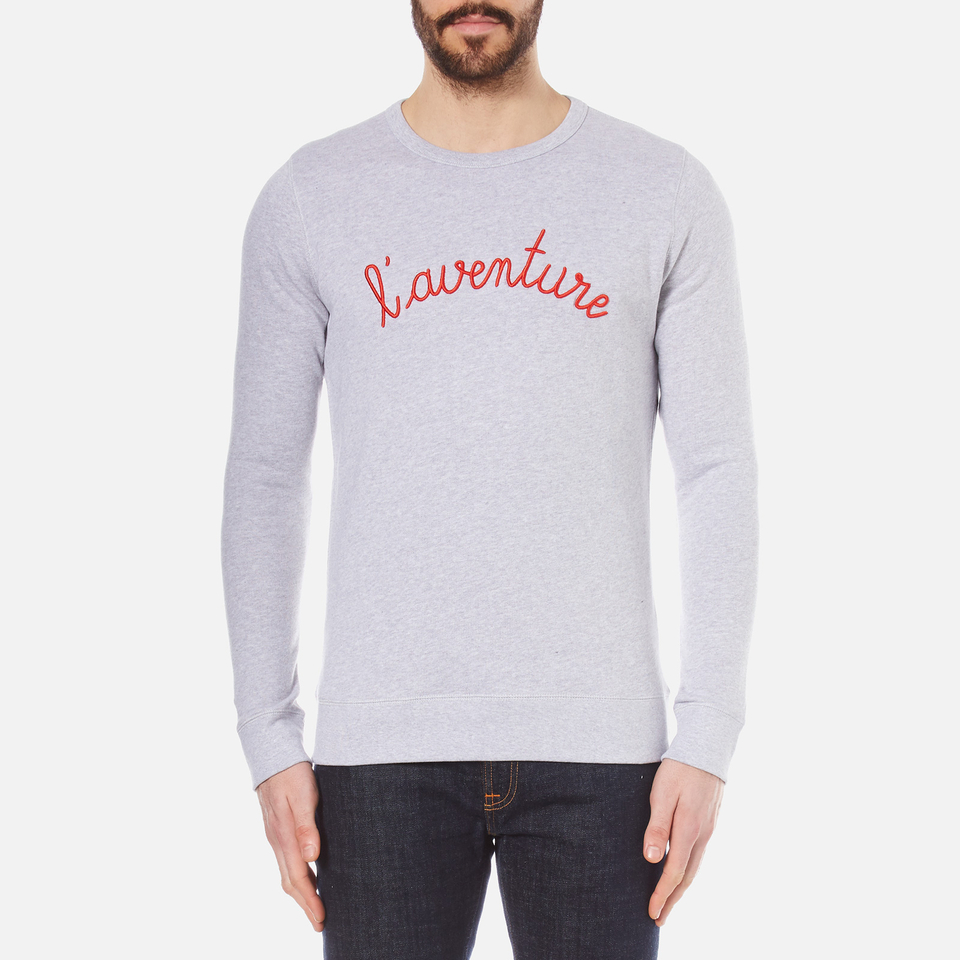 Maison Labiche Mens Laventure Sweatshirt Heather Grey L