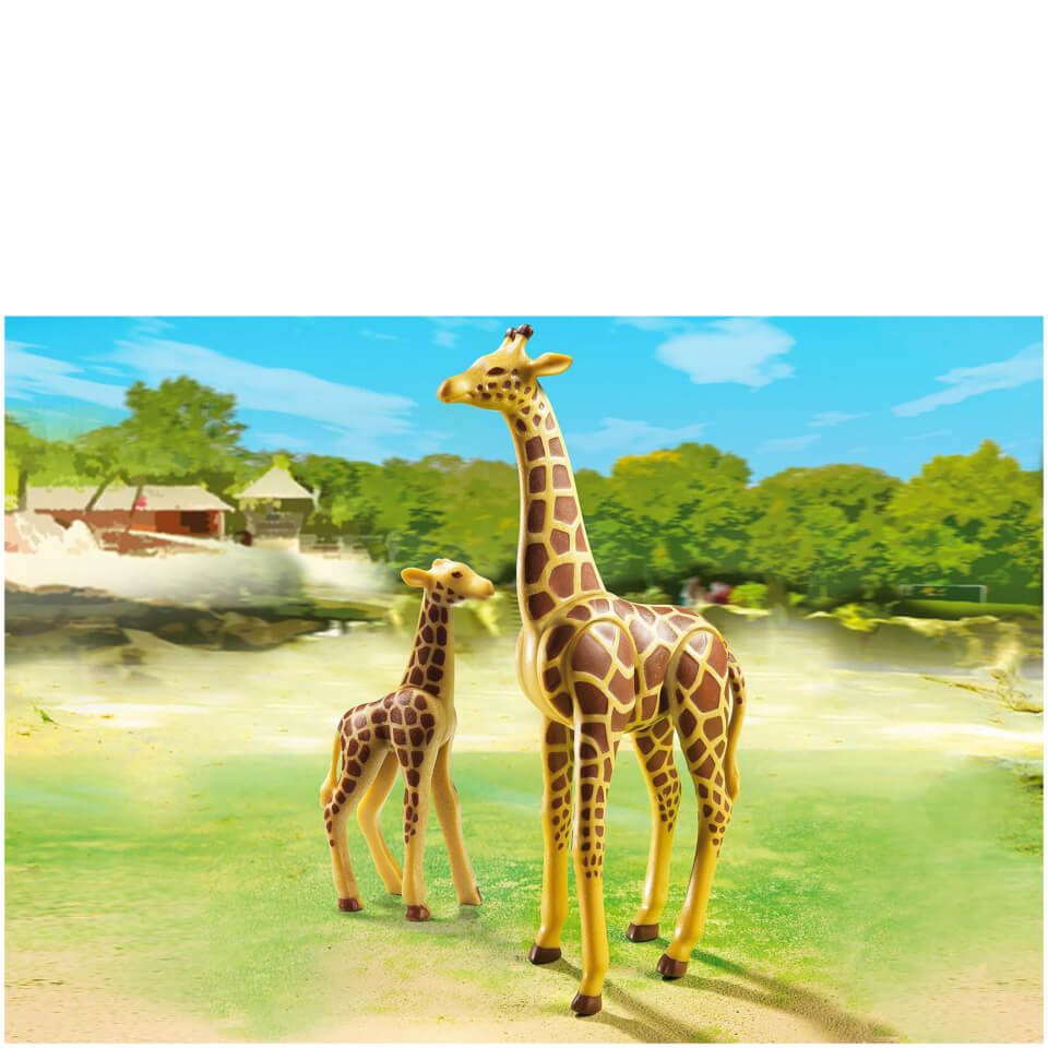 playmobil-giraffe-with-calf-6640