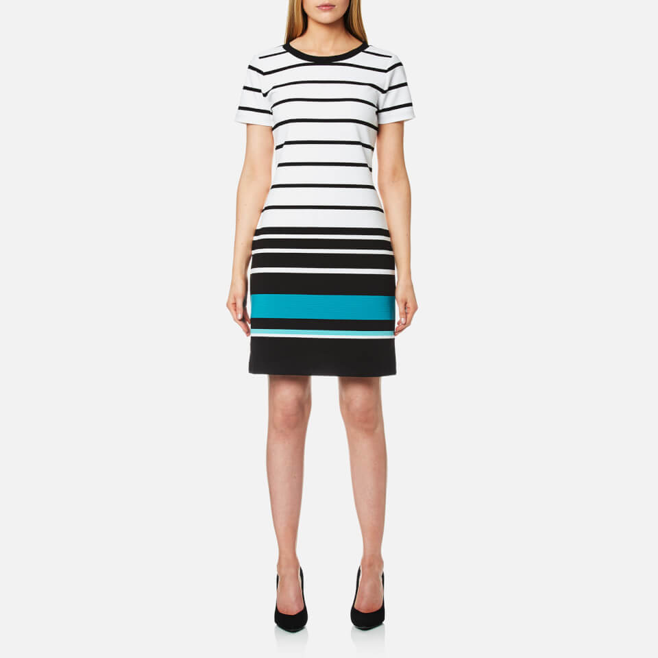 Michael Michael Kors Womens Stripe T-shirt Dress Dark Peacock S