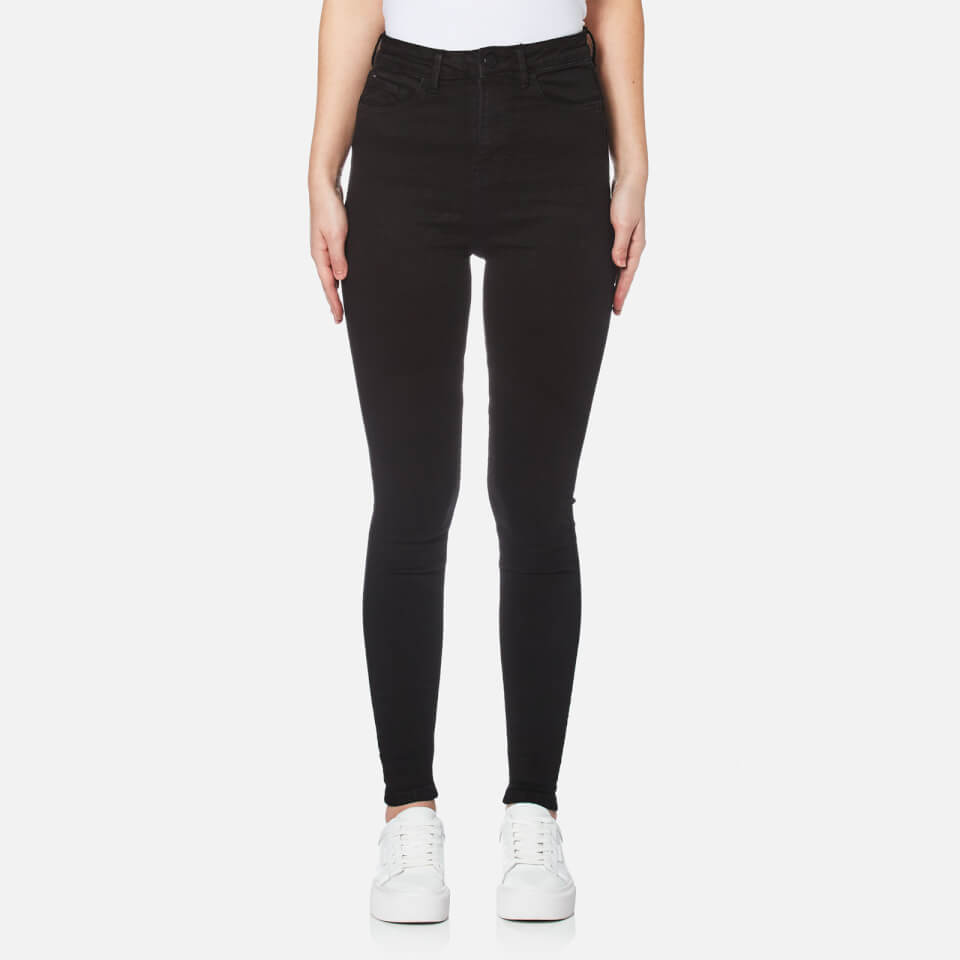 Waven Womens Anika High Rise Skinny Jeans True Black Uk 6