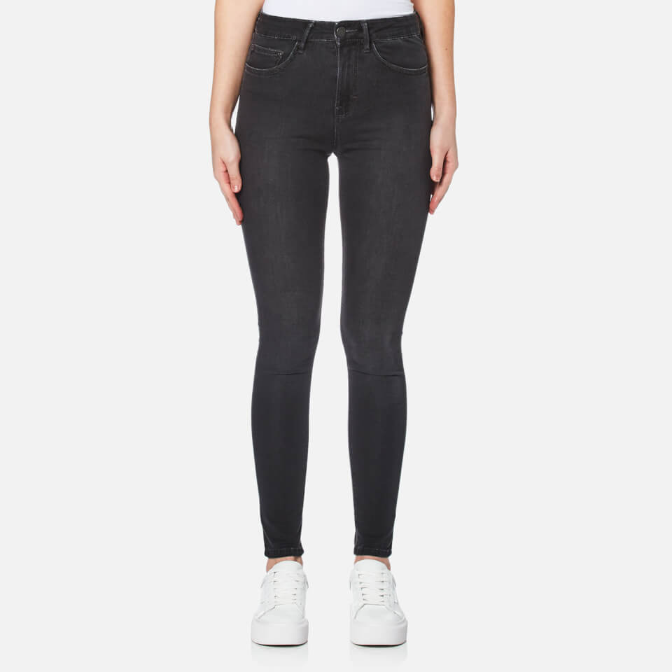 Waven Womens Asa Mid Rise Skinny Jeans Earl Grey Uk 6