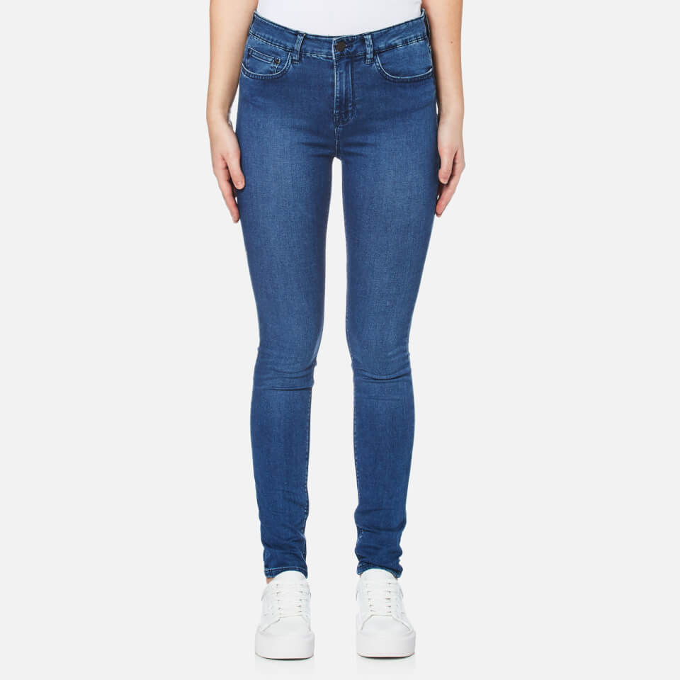 Waven Womens Asa Mid Rise Skinny Jeans Brand Blue Uk 12