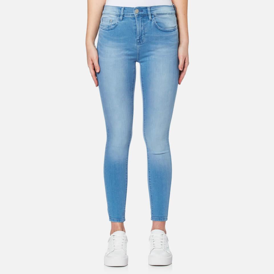 Waven Womens Freya Classic Skinny Ankle Grazer Jeans Ice Blue Uk 8
