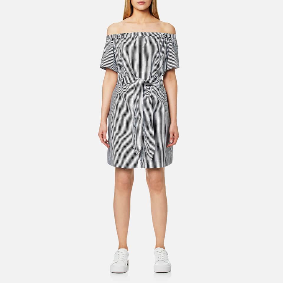 house-of-sunny-women-cold-shoulder-short-sleeve-shirt-striped-poplin-6