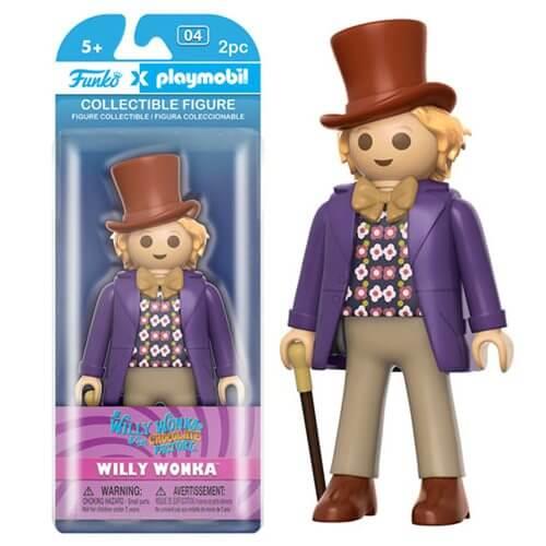 Figura Funko x Playmobil Willy Wonka - Charlie y la fábrica de chocolate