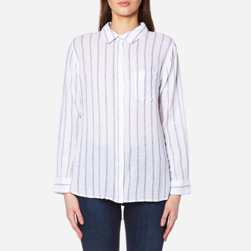 Rails Womens Charli Stripe Shirt White/ryal/magenta M