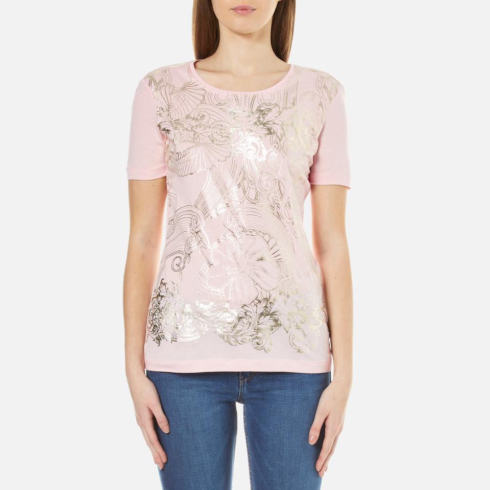 Versace Jeans Womens Printed T-shirt Candy Eu 42/uk 10