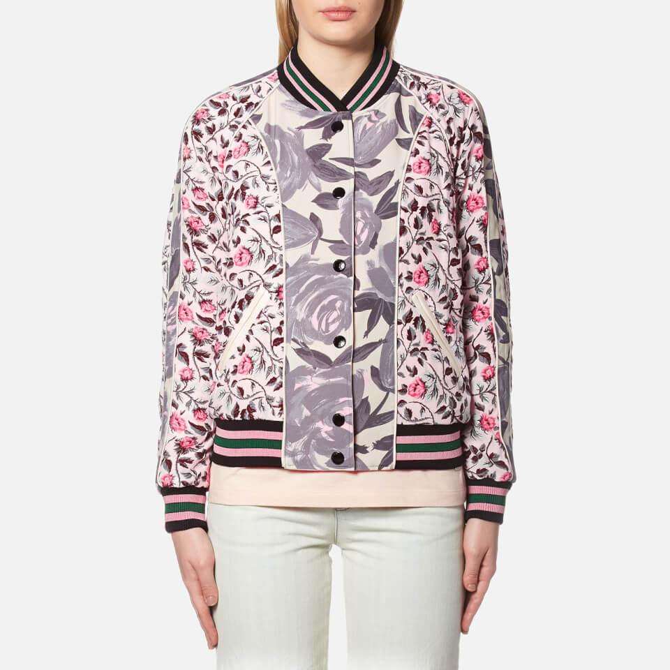 Coach Womens Reversible Satin Varsity Jacket Shell Multi 6/uk 10