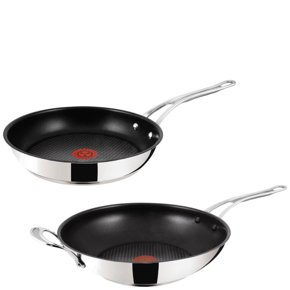 jamie-oliver-by-tefal-stainless-steel-non-stick-2-piece-cookware-set-28cm-frying-pan-30cm-wok