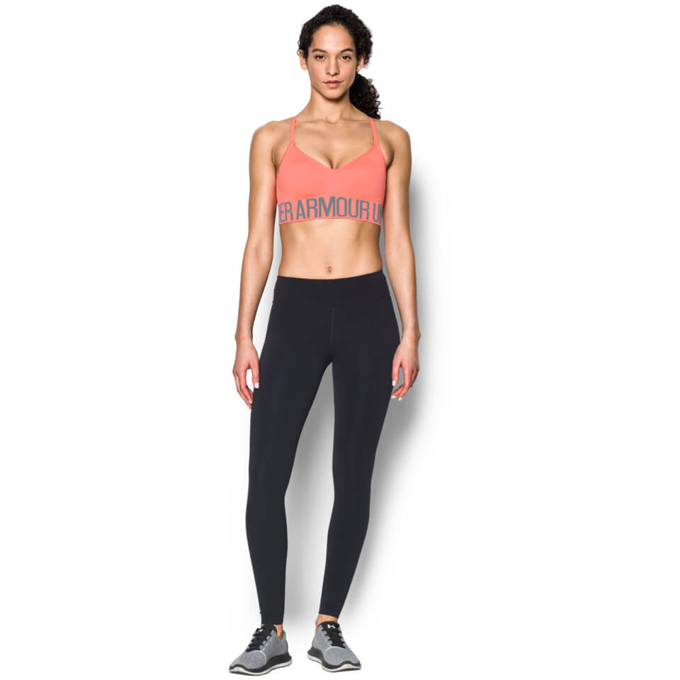 Under Armour Womens Heatgear Seamless Sports Bra London Orange L