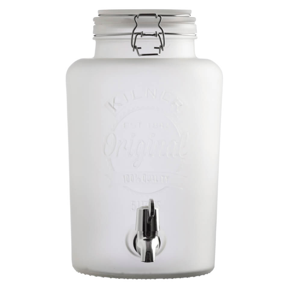 kilner-frosted-dispenser-white-5l