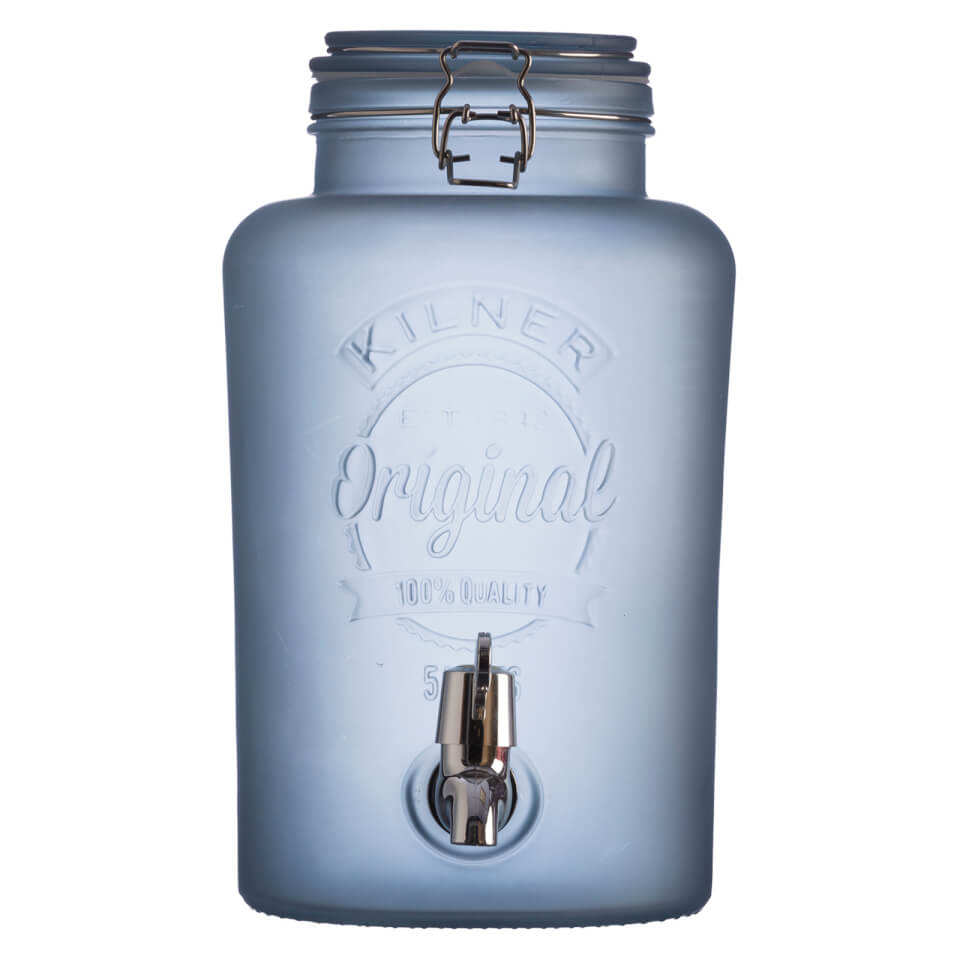 kilner-frosted-dispenser-blue-5l