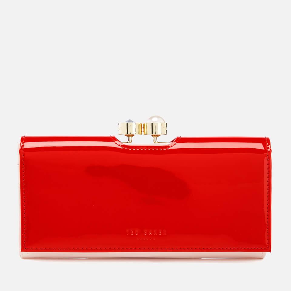 0323d74ab735 Ted Baker Women s Cecilie Pearl Bobble Patent Matinée Purse - Burnt Orange Womens  Accessories