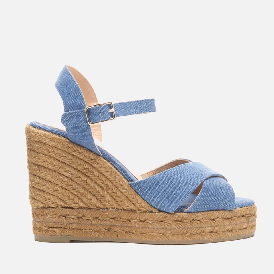 Castaner Womens Blaudell Wedged Espadrille Sandals Jeans Uk 4