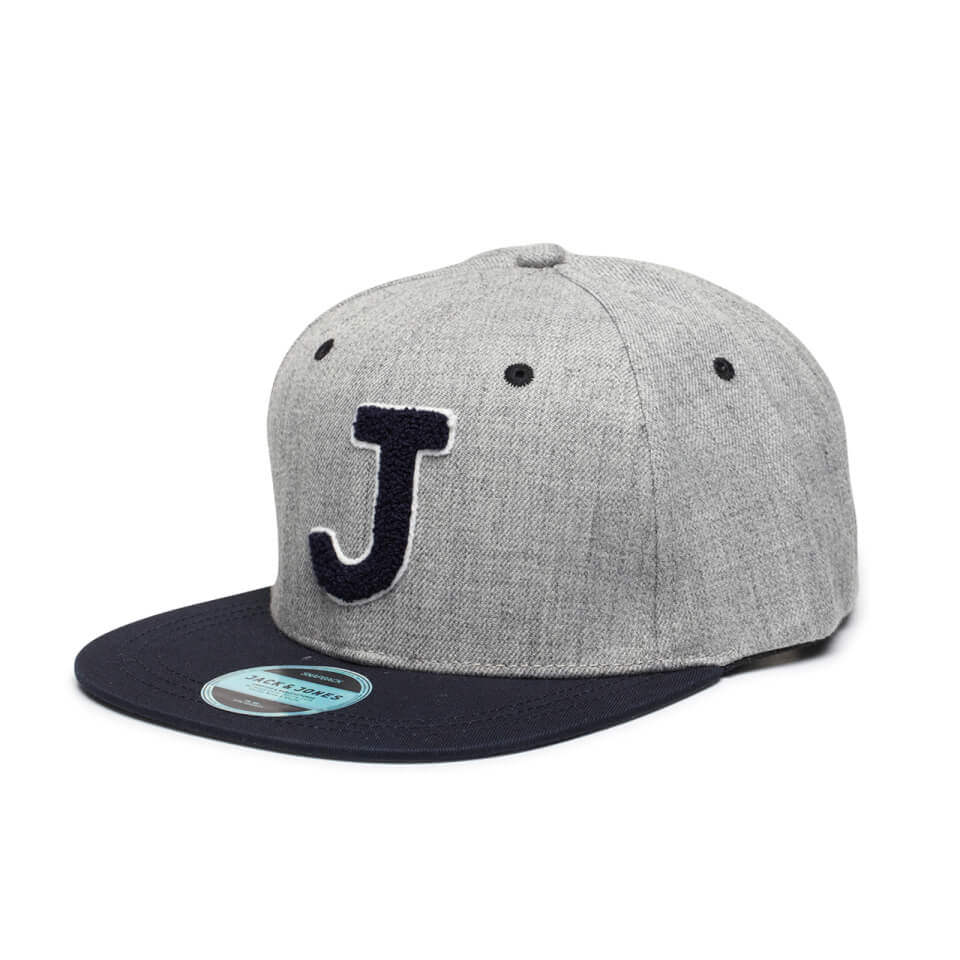 jack jones men 39 s terry snapback cap light grey melange. Black Bedroom Furniture Sets. Home Design Ideas
